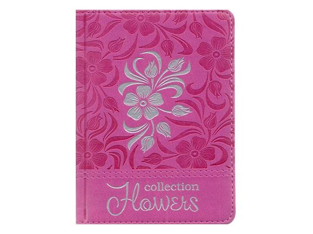 Записная книжка А6 кожзам 160л Цветок в узорах-6 Collezione 160-1075
