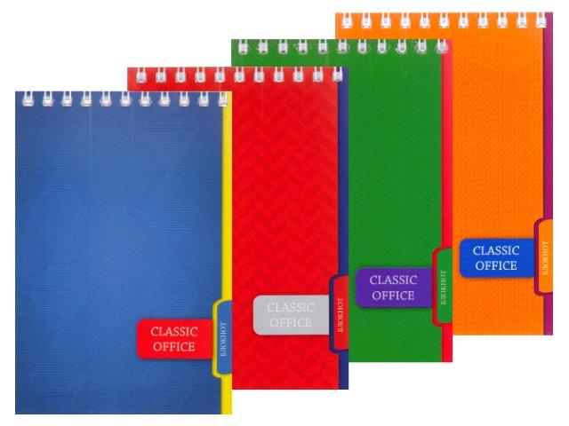 Блокнот А6 спираль сверху м/обложка  80л Офисный дизайн-2 Prof Press Б80-3329