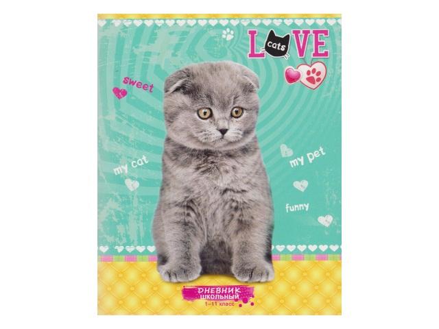 Дневник 1-11кл на скобах Серый котенок-2 Д40-1576
