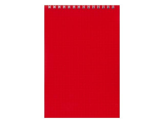 Блокнот А5 спираль сверху пласт/обложка  80л Красный Prof Press Б48-7837
