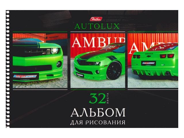 Альбом 32л А4 спираль Автопанорама 100 г/м2 Hatber 32А4Всп_07115