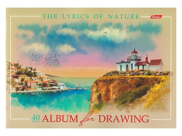 Альбом 40л А4 на скобах Лирика природы Hatber 40А4тВ_16349