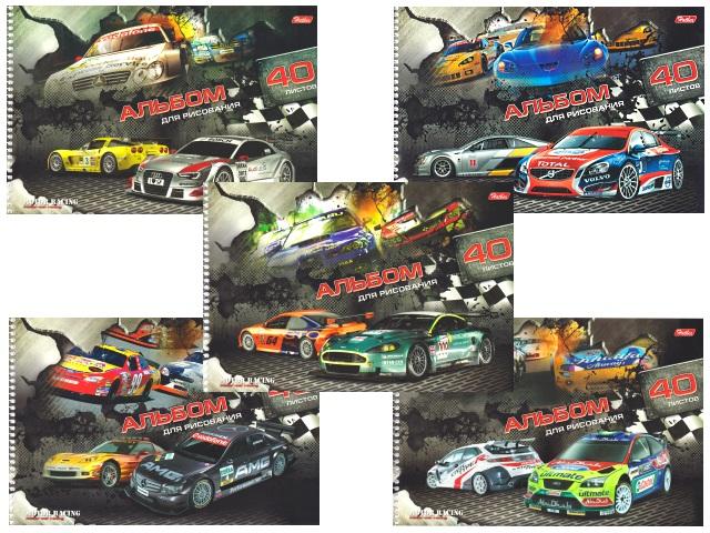 Альбом 40л А4 спираль Motor Racing Hatber 40А4вмВсп_09584