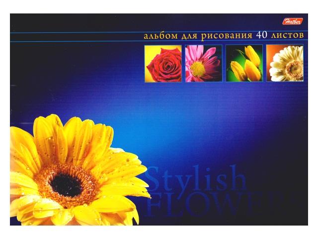 Альбом 40л А4 клееный Магия цветов Hatber 40А4вмAк_07347
