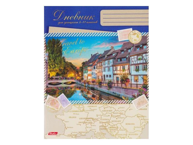 Дневник 5-11кл на скобах Прогулки по Европе Hatber 48Дм5В_14278