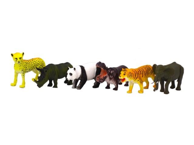 Дикие животные 6 шт. пластик 12 см Wild Animals 161044-1179