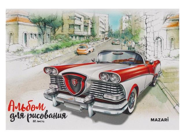 Альбом 32л А4 на скобах 100 г/м2 Mazari М-2205