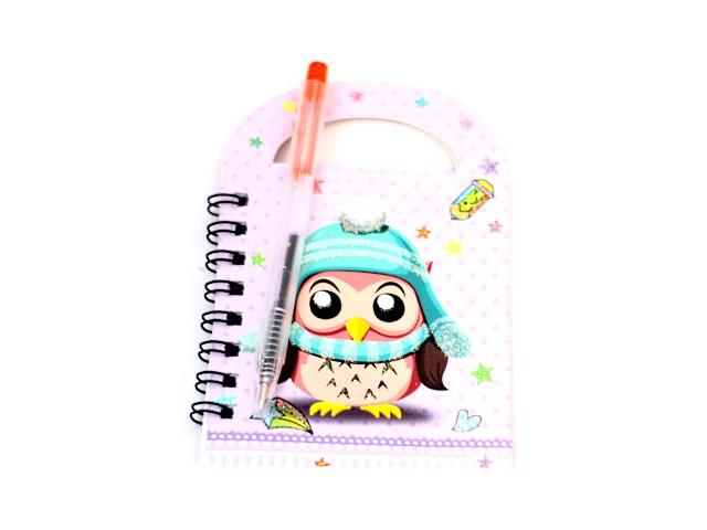 Блокнот А6 с ручкой спираль сбоку м/обложка 36л Киндер J.Otten 7087
