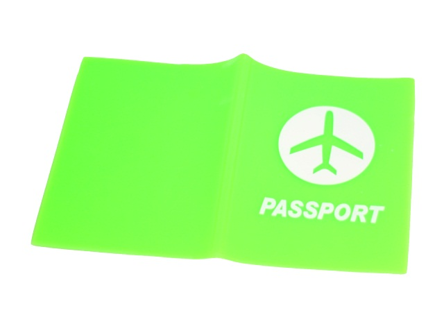 Обложка для паспорта силикон Passport зеленая J.Otten 8967-1