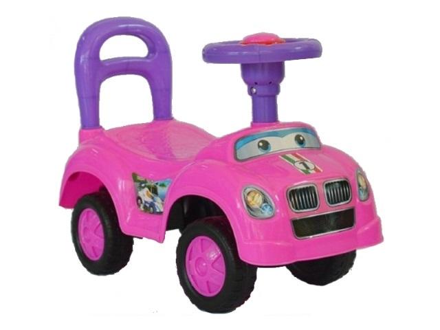 Машина-каталка Авторалли розовая 50 см Q09-1/PINK