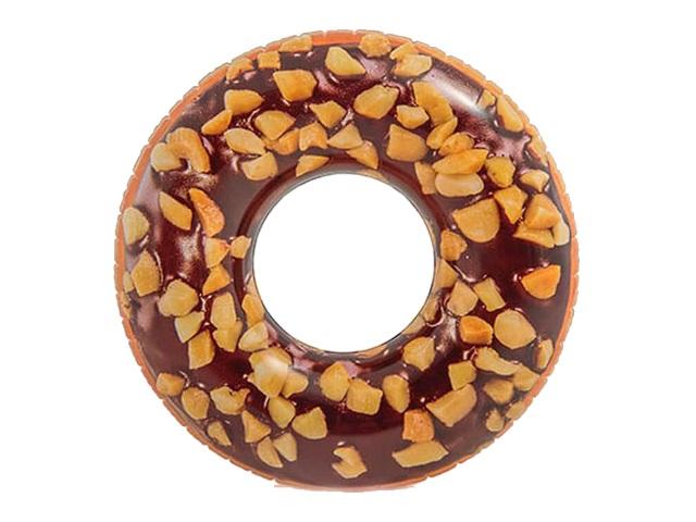Круг 114см Пончик шоколадный Intex 56262