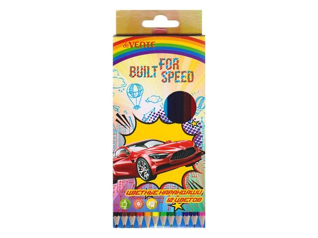 Карандаши цветные 12цв DeVente Built for Speed шестигранные 5022806