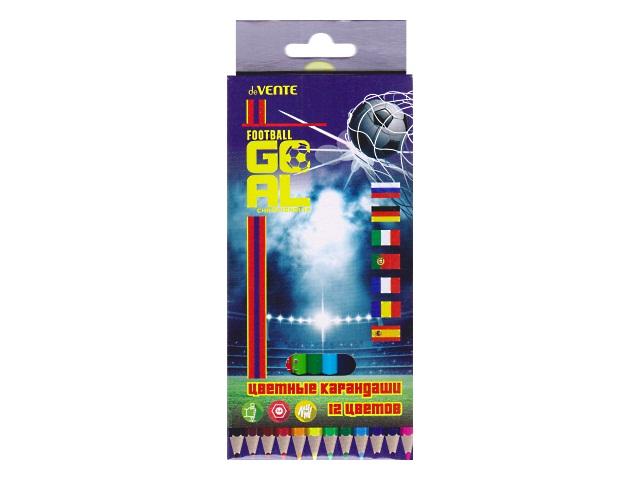 Карандаши цветные 12цв DeVente Goal шестигранные 5022805