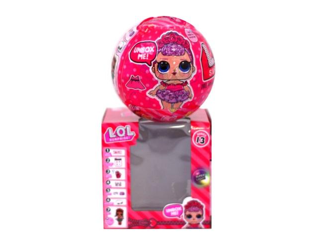 Кукла LOL шар розовый 2679