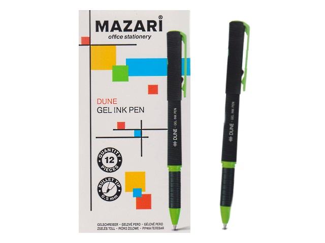 Ручка гелевая Mazari Dune черная 0.5мм M-5544-71
