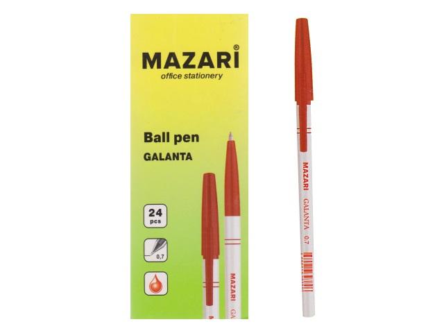 Ручка масляная Mazari Galanta красная 0.7мм М-5900-72