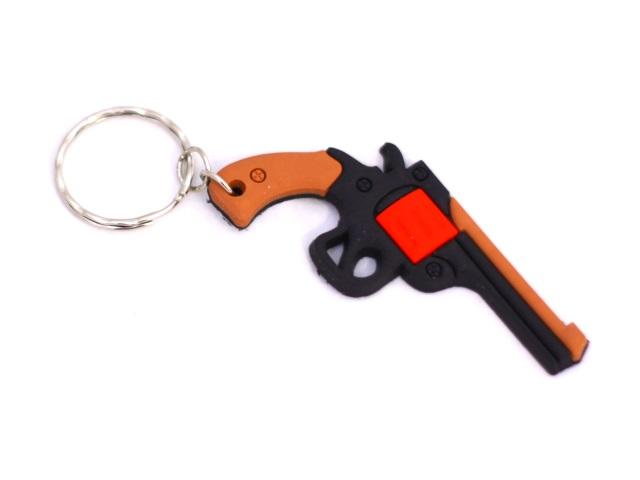 Брелок резиновый Револьвер 6см 180122-3