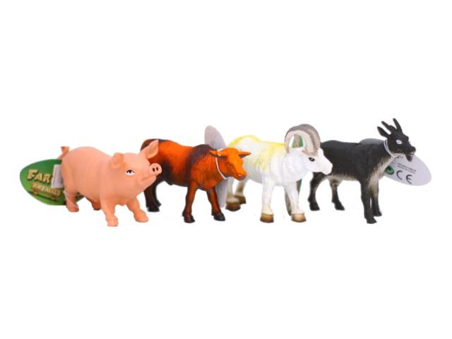 Домашние животные пластик 12см Farm animal ассорти