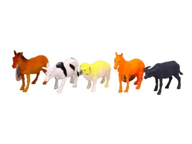 Домашние животные пластик 10см Farm animal ассорти 171040-4
