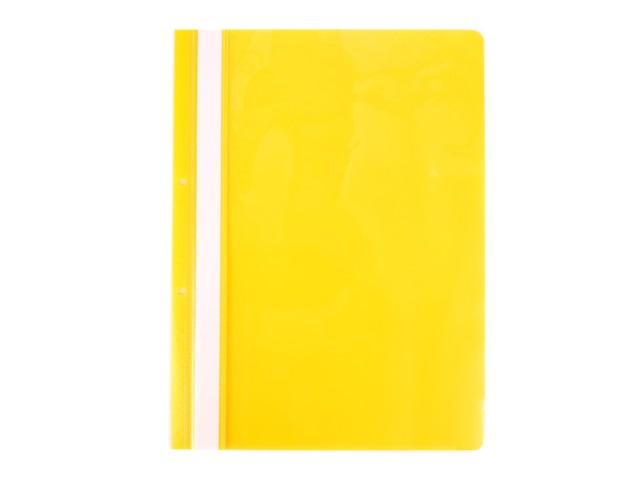 Скоросшиватель А4 с перфорацией желтый глянцевый Attache 495383