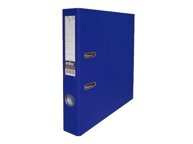 Регистратор  А4/50 Index темно-синий с металлической окантовкой 5/50 PP NEW DB
