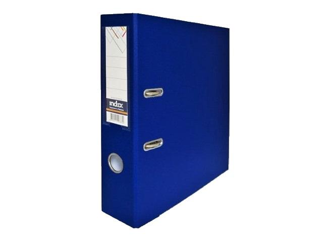 Регистратор  А4/80 Index темно-синий с металлической окантовкой 8/50 PP NEW DB