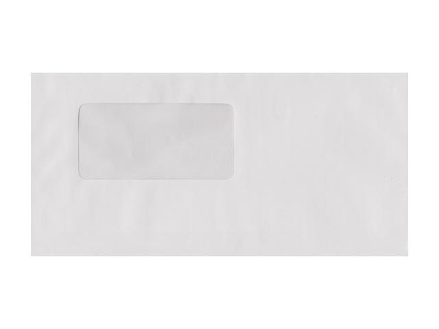 Конверт DL Е65 (стрип) 11*22см белый с отрывной лентой и окном 70598