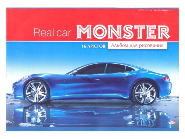 Альбом 16л А4 на скобах Ярко-синее авто 100 г/м2 Prof Press 16-6344