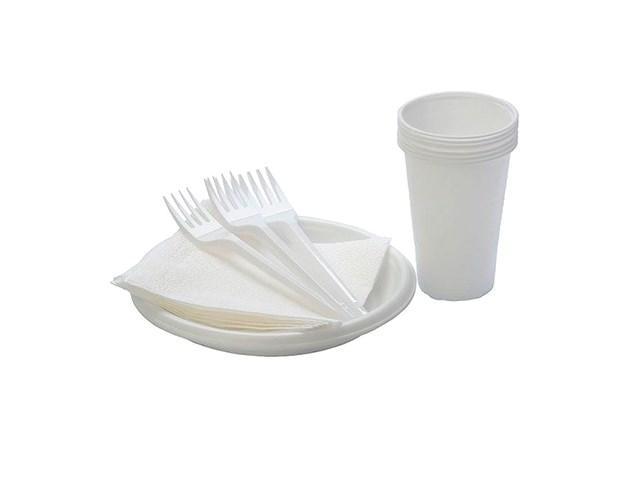Набор пластиковой посуды на 6 персон В.В.