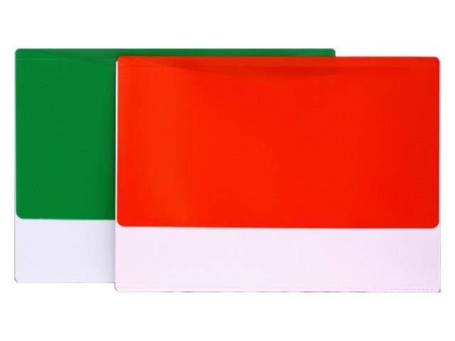 Папка конверт с клапаном А4 2 отделения 180мкм цветной Бюрократ РК850
