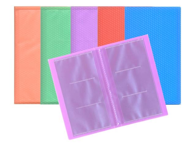 Визитница на  60 карт 11*19.2см пластик Бюрократ Crystal цветная 816124 CR60K