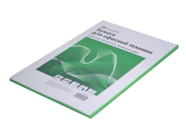 Бумага А4  80 г/м2 100 л. WM интенсив зеленый 012001604