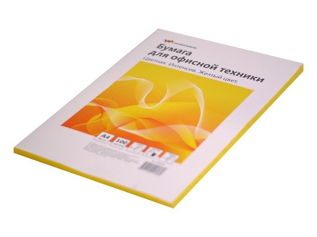 Бумага А4  80 г/м2 100 л. WM интенсив желтый 012001608