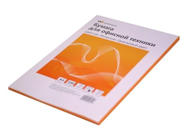 Бумага А4  80 г/м2 100 л. WM интенсив оранжевый 012001612