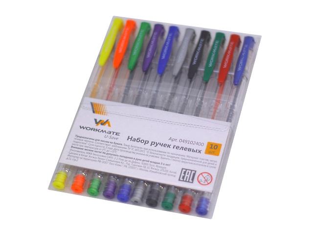 Ручка гелевая набор 10цв WM 0.5мм 049102400