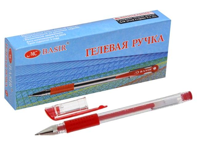 Ручка гелевая Basir МС-1266 красная 0.5мм