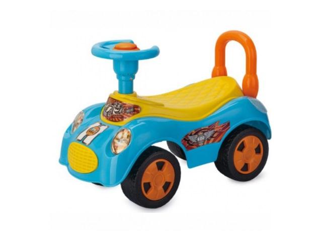 Машина-каталка Вояж голубая 50 см EBL8203/BLUE