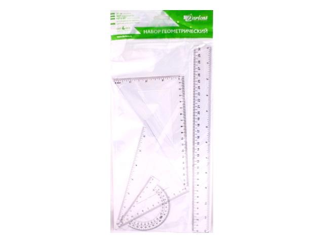 Набор чертёжный 4 предмета 30 см прозрачный DRL00150