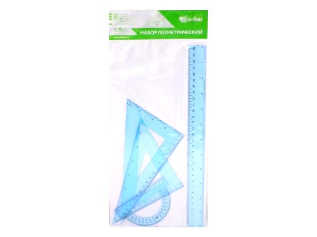 Набор чертёжный 4 предмета 30 см прозрачный цветной DRL00151