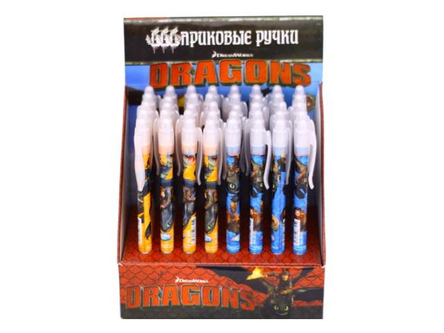 Ручка шариковая детская автомат Centrum Драконы синяя 0.7мм 86725