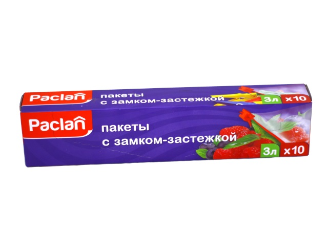 Пакеты с замком-застежкой 3л 27*28 см 10 шт Paclan 404040