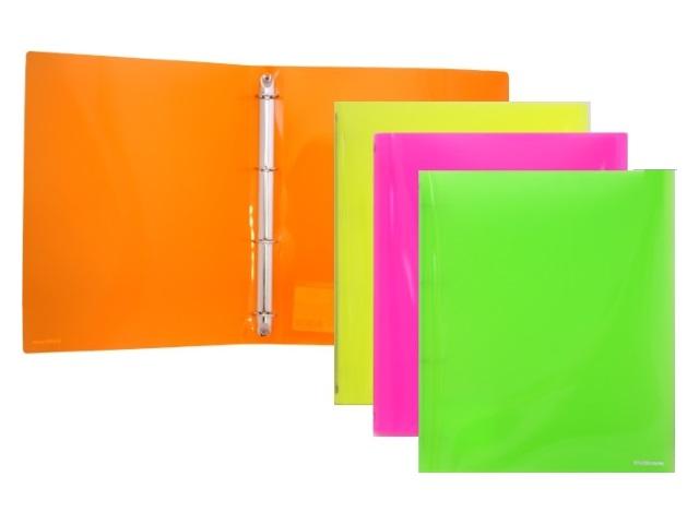 Папка 4 кольца А4 35мм d=25мм Neon Glance цветная EK-42973