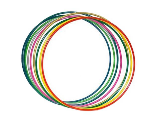 Обруч металл 90 см цветной О-1