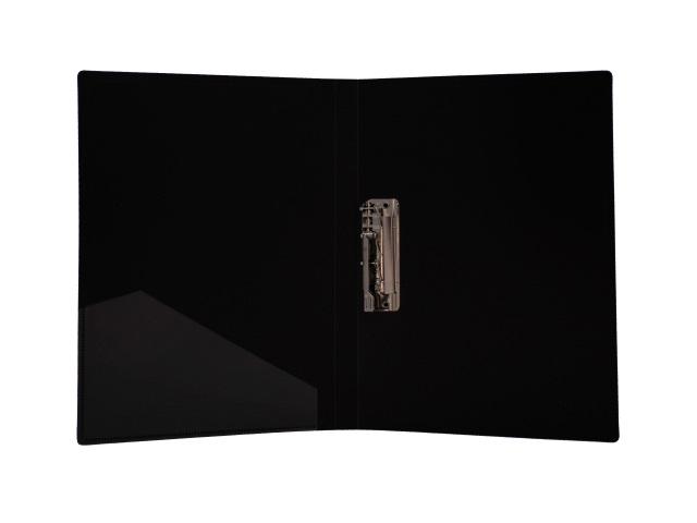 Папка с зажимом и карманом, А4, черная, 0.6 мм, Proff Next