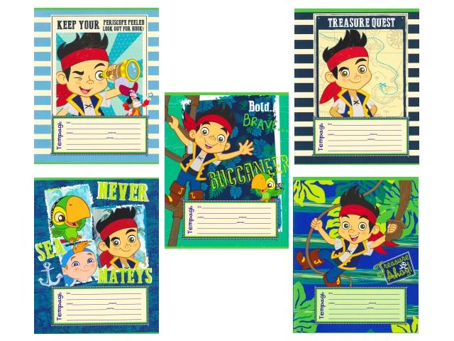 Тетрадь 12л клетка Disney Капитан Джейк и пираты Нетландии Prof Press 12-1041