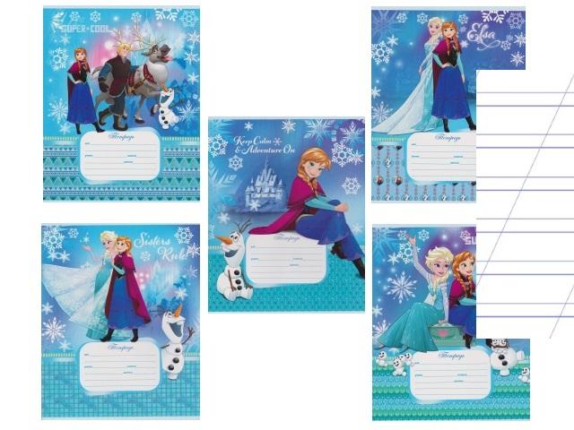 Тетрадь 12л косая линия Disney Холодное сердце-61 Prof Press 12-6641