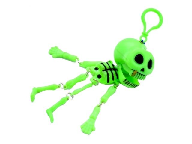 Брелок пластиковый Скелет фосфор
