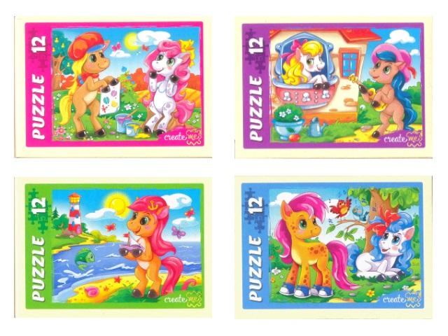 Пазлы   12 деталей Любимые пони П12-5920