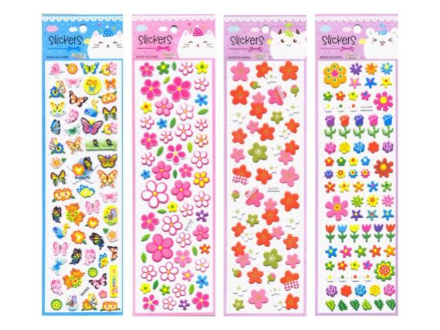 Наклейки 7.5*27см Бабочки цветочки J.Otten 6054