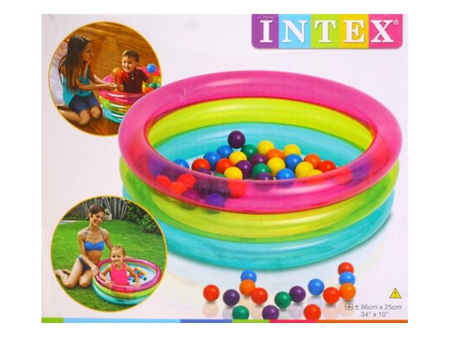 Бассейн  86*25см с шариками Intex 48674